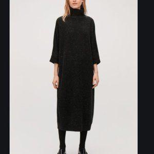 COS High-neck Oversized Sweater Dress